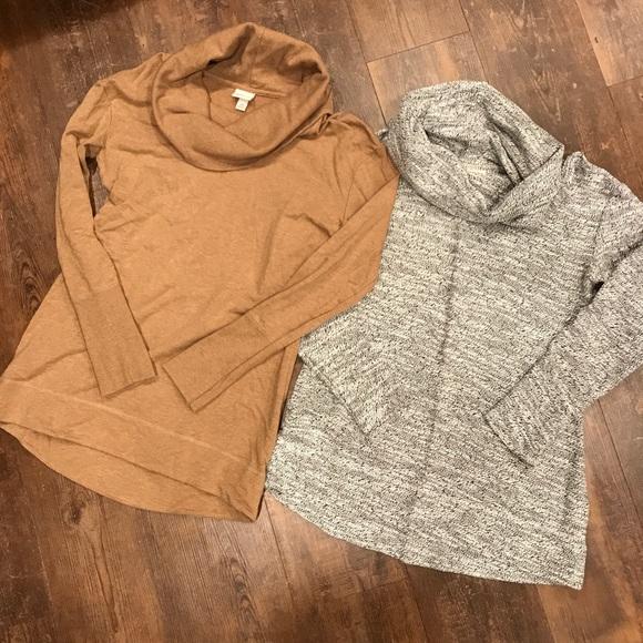 Merona Tops - Set of 2 Cowl Neck Tunics - Small